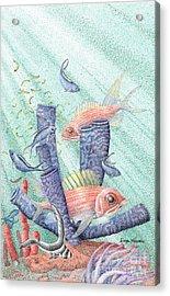 Squirrel Fish Reef Acrylic Print by Wayne Hardee