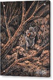 Squirrel-ly Acrylic Print by Ricardo Chavez-Mendez