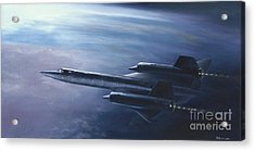 Acrylic Print featuring the painting Sr-71 by Stephen Roberson