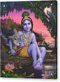 Sri Krishnachandra Acrylic Print by Vishnudas Art