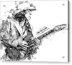 Stevie Ray 1 Acrylic Print by Gary Bodnar