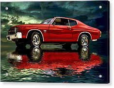 Acrylic Print featuring the photograph Chevelle 454 by Steven Agius