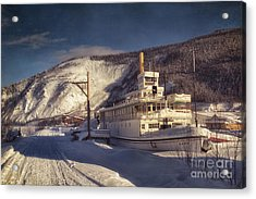 S.s. Keno Sternwheel Paddle Steamer Acrylic Print by Priska Wettstein