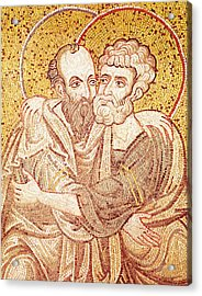 Saints Peter And Paul Embracing Acrylic Print