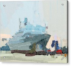 Acrylic Print featuring the painting Ss Rotterdam by Nop Briex