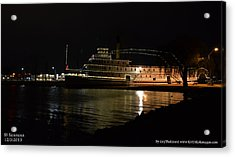 Acrylic Print featuring the photograph Ss Sicamous - Night Shot by Guy Hoffman