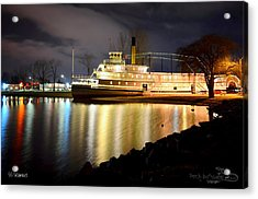 Ss Sicamous Steam Ship 1/21/2014  Acrylic Print by Guy Hoffman