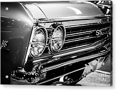 Ss396 Chevelle Black And White Picture Acrylic Print by Paul Velgos