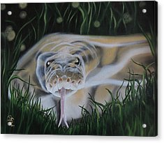 Acrylic Print featuring the painting Ssssmantha by Dianna Lewis