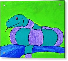 Ssssss Acrylic Print by Yshua The Painter