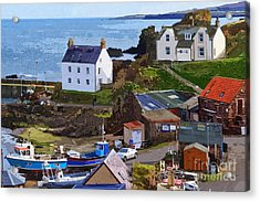 St. Abbs Harbour - Photo Art Acrylic Print