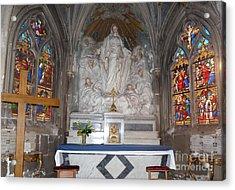 Acrylic Print featuring the photograph St. Aignan Church Altar by Deborah Smolinske