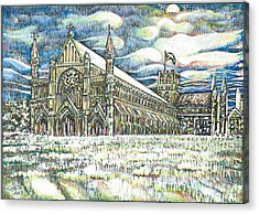St Albans Abbey - At Sunset Acrylic Print