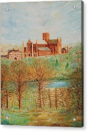 St Albans Abbey - Autumn View Acrylic Print by Giovanni Caputo