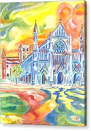 St Albans Abbey - Rainbow Celebration Acrylic Print by Giovanni Caputo