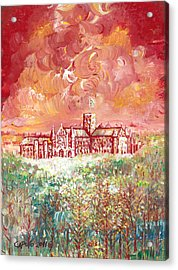 St Albans Abbey - Stormy Weather Acrylic Print by Giovanni Caputo
