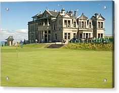 St Andrews Final Green And Clubhouse  Acrylic Print by Jeremy Voisey