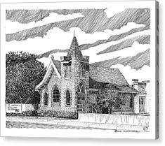 St Andrews Las Cruces Nm Acrylic Print by Jack Pumphrey