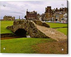 St. Andrews Links Golf Course Swilcan Bridge 18th Hole Acrylic Print
