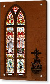 St Anthony And St Francis Xavier Acrylic Print by Christine Till