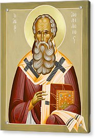 St Athanasios The Great Acrylic Print by Julia Bridget Hayes