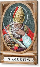 St Augustine (354-430 Acrylic Print
