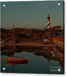 St. Augustine Lighthouse Beach Early Morning Color Acrylic Print