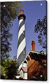 St Augustine Lighthouse - Old Florida Charm Acrylic Print by Christine Till
