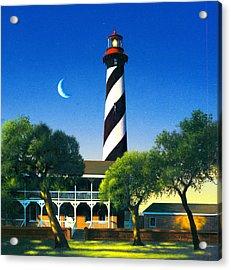 St Augustine Acrylic Print by MGL Studio - Chris Hiett
