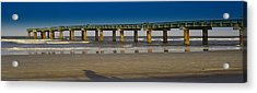 St. Augustine Pier Acrylic Print by Donnell Carr