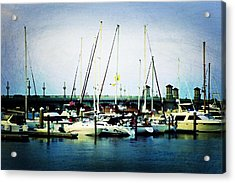 St. Augustine Sailboats Acrylic Print by Laurie Perry