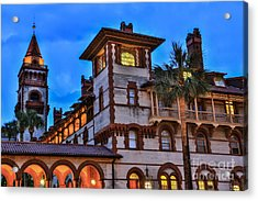 Acrylic Print featuring the photograph St. Augustine's View by Paula Porterfield-Izzo