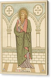 St Bartholomew Acrylic Print by English School