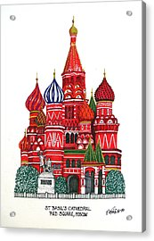 St Basil's Cathedral Acrylic Print by Frederic Kohli