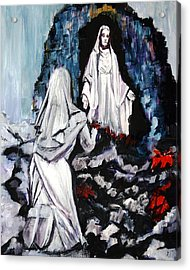 St. Bernadette At The Grotto Acrylic Print