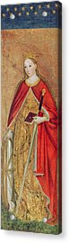 St. Catherine Of Alexandria, 1475 Oil On Panel Detail Of 197121 Acrylic Print by Ludovico Brea