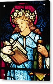 St Catherine Of Alexandria In Stained Glass Acrylic Print