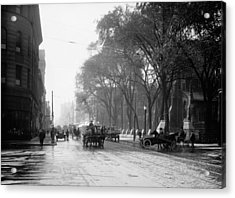 St Catherine Street - Montreal 1910 Acrylic Print by Mountain Dreams