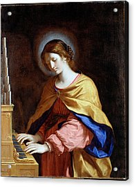 St Cecilia Acrylic Print by Guercino