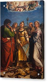 St. Cecilia With Sts. Paul John Augustine And Mary Magdalene Acrylic Print