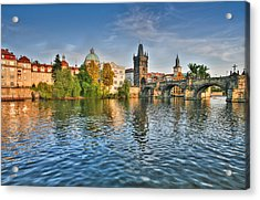 St Charles Bridge Prague Acrylic Print
