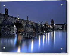 Acrylic Print featuring the photograph St Charles Bridge by Ryan Wyckoff