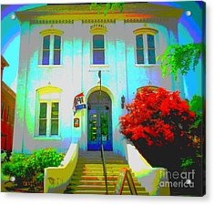 St. Charles County City Hall Painted Acrylic Print by Kelly Awad
