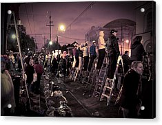 St Charles Night Parade Acrylic Print by Ray Devlin