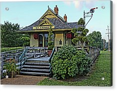 St Charles Station On The Katty Trail Look West Dsc00849 Acrylic Print