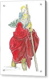 St. Christopher 5 Acrylic Print