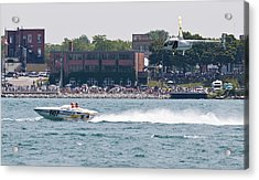 St. Clair Michigan Usa Power Boat Races-4 Acrylic Print by Paul Cannon