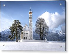Acrylic Print featuring the photograph St Colemans Church by Ryan Wyckoff
