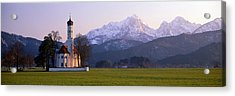 St Coloman Church And Alps Schwangau Acrylic Print by Panoramic Images