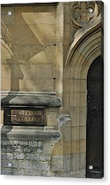St. Cross College Acrylic Print by Joseph Yarbrough